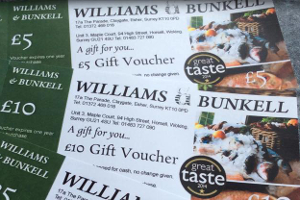 Seafood gift vouchers